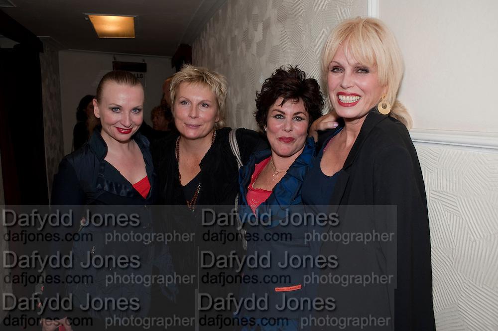JUDITH OWEN; JENNIFER SAUNDERS; RUBY WAX; JOANNA LUMLEY, Press night for Ruby Wax- Losing it. Duchess theatre. London. 1 September 2011. <br /> <br />  , -DO NOT ARCHIVE-© Copyright Photograph by Dafydd Jones. 248 Clapham Rd. London SW9 0PZ. Tel 0207 820 0771. www.dafjones.com.