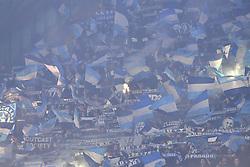 February 21, 2019 - Napoli, Napoli, Italia - Foto Cafaro/LaPresse.21 Febbraio 2019 Napoli, Italia.sport.calcio.SSC Napoli vs FC Zurich - UEFA Europa League stagione 2018/19, Sedicesimi di finale, ritorno - stadio San Paolo..Nella foto: tifosi della Zurigo...Photo Cafaro/LaPresse.February 21, 2019 Naples, Italy.sport.soccer.SSC Napoli vs FC Zurich - UEFA Europa League 2018/19 season, Round of 32, Second leg - San Paolo stadium..In the pic: the Zurigo fans show their support. (Credit Image: © Cafaro/Lapresse via ZUMA Press)