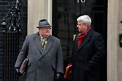 © Licensed to London News Pictures. 22/01/2013. Westminster, UK (L) Communities Secretary.Eric Pickles talks with Leader of the Commons.Andrew Lansley. Politicians at Cabinet Meeting on Downing Street this morning 22 January 2012. Photo credit : Stephen Simpson/LNP