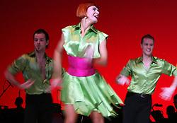 """Venturini and """"the last dance"""" at """"goodbye"""" event of Slovenian professional sports dance couple Andrej Skufca and Katarina Venturini, named Infinity is Eternity (Neskoncnost je vecnost), on March 2, 2008, in Cankarjev dom, Ljubljana, Slovenia.  (Photo by Vid Ponikvar / Sportal Images)/ Sportida)"""