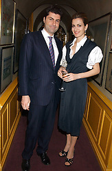 MARWAN and AZIA CHATILA at a dinner hosted by Stratis & Maria Hatzistefanis at Annabel's, Berkeley Square, London on 24th March 2006 following the christening of their son earlier in the day.<br /><br />NON EXCLUSIVE - WORLD RIGHTS