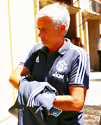 Jose Mourinho says goodbye to Los Angeles fans as Manchester United F.C. leaves Los Angeles. 22 Jul 2017 Pictured: Jose Mourinho. Photo credit: KAT / MEGA TheMegaAgency.com +1 888 505 6342