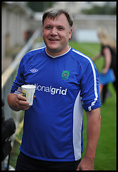 Shadow Chancellor Ed Balls  after playing in the Labour Politicians v Reporter's Football match at the Labour Party Autumn Conference. Sunday, 22nd September 2013. Picture by Andrew Parsons / i-Images