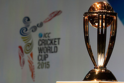 © Licensed to London News Pictures. 30/7/2013. World cup trophy during the official launch of the I.C.C Cricket World Cup to be held in Australia and New Zealand in 2015, Melbourne, Australia. Photo credit : Asanka Brendon Ratnayake/LNP