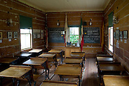 One room schoolhouse, Mason Street School (est. 1865) Museum, Old Town San Diego State Historic Park, San Diego, California