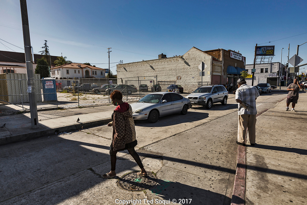 25 years later at the corner of S.Vermont Ave and 86th Street. Not much has changed, many business have not come back to the area. Several giant lots are still empty 25 years later.<br /> <br /> 25 before and after LA92 photo project.
