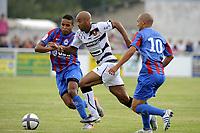 FOOTBALL - FRIENDLY GAMES 2010/2011 - SM CAEN v STADE RENNAIS - 31/07/2010 - PHOTO JEAN MARIE HERVIO / DPPI - STEPHANE DALMAT (SR) / YOUSSEF EL ARABI / BENJAMIN NIVET (SMC)