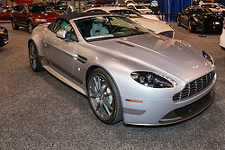 CHARLOTTE, NORTH CAROLINA - NOVEMBER 20, 2014: Aston Martin V8 Vantage N430 Convertible on display during the 2014 Charlotte International Auto Show at the Charlotte Convention Center.