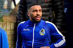 Tareiq Holmes-Dennis of Bristol Rovers arrives at Roots Hall prior to kick off  - Mandatory by-line: Ryan Hiscott/JMP - 02/02/2019 - FOOTBALL - Roots Hall - Southend-on-Sea, England - Southend United v Bristol Rovers - Sky Bet League One