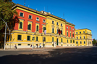 Albanie, Tirana, place Skanderbeg, ministere de l'agriculture // Albania, Tirana, Skanderbeg square, agriculture ministery