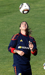 10.06.2010, Sportanlage, Potchefstroom, RSA, FIFA WM 2010, Training Spanien im Bild Spain's Sergio Ramos, EXPA Pictures © 2010, PhotoCredit: EXPA/ Alterphotos/ Acero / SPORTIDA PHOTO AGENCY