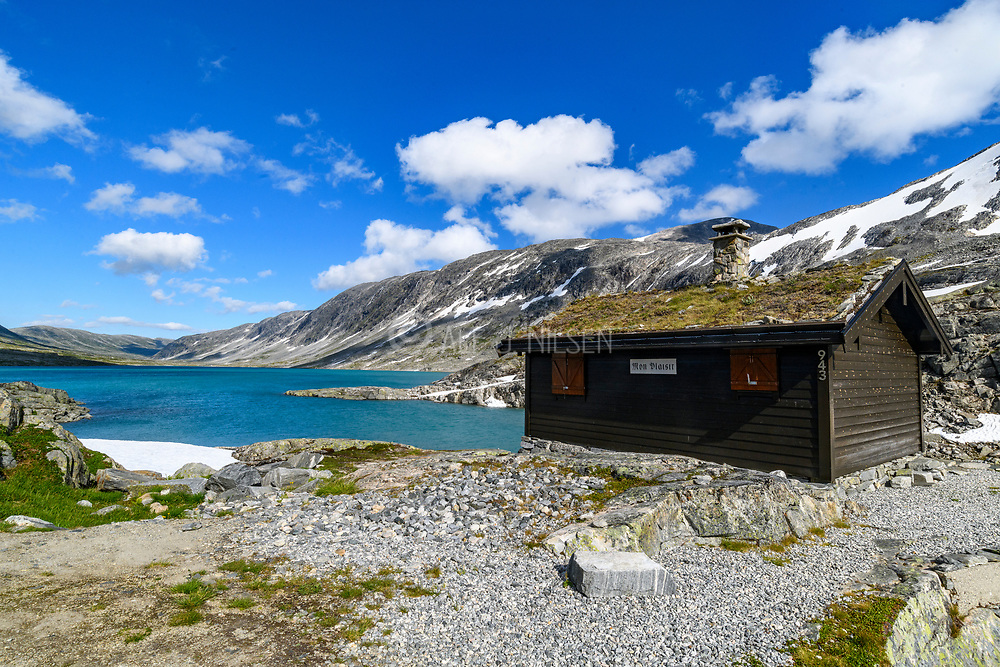 Cabin at Strynefjellet (about 1200 m elevation) on the border between Stryn and Skjåk municipality, western Norway.