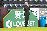 Burnley manager Sean Dyche.the FA Cup match between Burnley and Milton Keynes Dons at Turf Moor, Burnley, England on 9 January 2021.