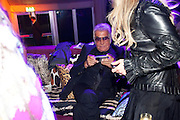 ROBERTO CAVALLI, Dinner and party  to celebrate the launch of the new Cavalli Store at the Battersea Power station. London. 17 September 2011. <br /> <br />  , -DO NOT ARCHIVE-© Copyright Photograph by Dafydd Jones. 248 Clapham Rd. London SW9 0PZ. Tel 0207 820 0771. www.dafjones.com.