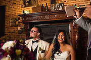 Bride and groom celebrate their outdoor wedding with family and friends at Picchetti Winery in Cupertino, California, on May 21, 2016. (Stan Olszewski/SOSKIphoto)