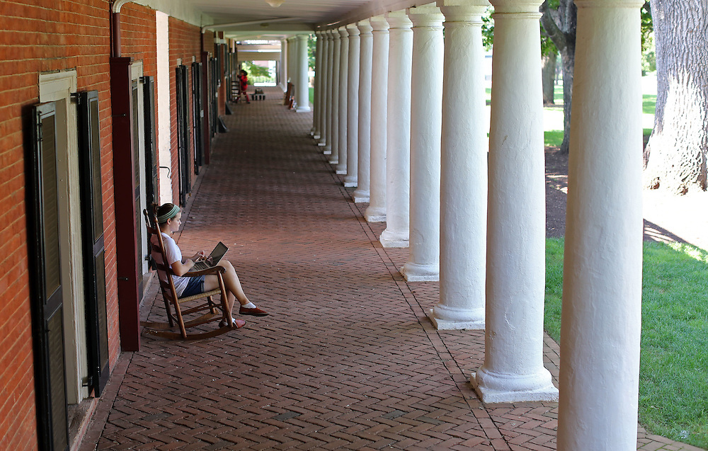 The lawn at the University of Virginia in Charlottesville, VA. Photo/Andrew Shurtleff