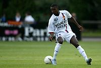 Fotball<br /> Frankrike 2004/05<br /> Treningskamp<br /> Lyon v Chatearoux<br /> 10. juli 2004<br /> Foto: Digitalsport<br /> NORWAY ONLY<br /> ERIC ABIDAL (LYON)