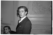 JOE GALLOWAY, , Matthew Vaughan 18th birthday. Novello Room, Wardour St, London. 17 March 1989,<br /> <br /> SUPPLIED FOR ONE-TIME USE ONLY> DO NOT ARCHIVE. © Copyright Photograph by Dafydd Jones 248 Clapham Rd.  London SW90PZ Tel 020 7820 0771 www.dafjones.com