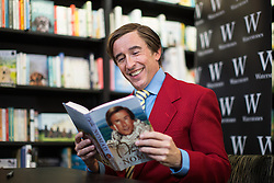 """© Licensed to London News Pictures . 25/10/2016 . Manchester , UK . STEVE COOGAN appears in character as Alan Partridge at Waterstones on Deansgate in Manchester for a launch and book signing of """" Alan Partridge Nomad """" . Photo credit : Joel Goodman/LNP"""
