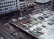 CS02222.  Meier & Frank parking lot. January 28, 1972