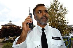 Security guard at NHS hospital Bradford Yorkshire UK