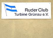 Berlin-Grünau. GERMANY.  Boat Tags, Badges, Boathouse signs Ruder club  Turbine Grünau eV. Regattastrasse,  Frühregatta Saturday 30/04/2011 [Mandatory Credit; Peter Spurrier/Intersport-images]