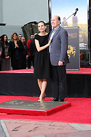 1/5/2011 Robert Duvall and his wife, Pedraza, during his hand and footprint ceremony at Grauman's Chinese Theater