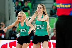 Cheerleaders Dragon Ladies during second semi-final match of Basketball NLB League at Final four tournament between KK Union Olimpija and Krka (SLO), on April 19, 2011 at SRC Stozice, Ljubljana, Slovenia. (Photo By Matic Klansek Velej / Sportida.com)