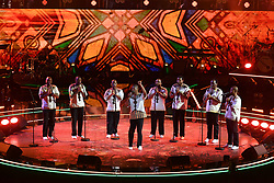 April 21, 2018 - London, London, United Kingdom - Image licensed to i-Images Picture Agency. 21/04/2018. London, United Kingdom. Ladysmith Black Mambazo perform at a special concert in celebration of Queen Elizabeth's 92nd birthday at the Royal Albert Hall in London. (Credit Image: © Rota/i-Images via ZUMA Press)