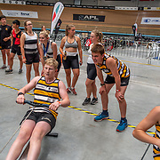 1:02 PM- Concept2 #21 Heat 2- Men?s 1000m U15<br /> <br /> NZ Indoor Champs, raced at Avanti Drome, Cambridge, New Zealand, Saturday 23rd November 2019 © Copyright Steve McArthur / @rowingcelebration www.rowingcelebration.com