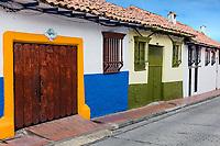 colorful Streets  in La Candelaria aera Bogota capital city of Colombia South America