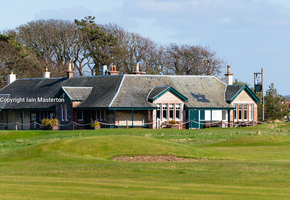 Clubhouse at Kilspindie Golf Club in Aberlady, East Lothian, Scotland, UK