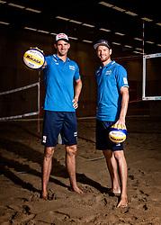 06-07-2018 NED: EC Beach teams Netherlands, The Hague<br /> (L-R) Robert Meeuwsen NED, Alexander Brouwer NED