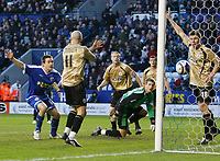 Photo: Steve Bond/Richard Lane Photography. Leicester City v Huddersfield Town. Coca Cola League One. 24/01/2009. Matty Fryatt (L) watches his goal cross the line