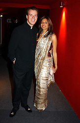 """JOEL CADBURY and DIVIA LALVANI at the 10th annual British Red Cross London Ball.  This years ball theme was Indian based - """"Yaksha - Yakshi: Doorkeepers to the Divine"""" and was held at The Room, Upper Ground, London on 1st December 2004.  Proceeds from the ball will aid vital humanitarian work, including HIV/AIDS projects that the Red Cross supports in the UK and overseas.<br /><br />NON EXCLUSIVE - WORLD RIGHTS"""