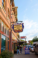 McMenamin's Olympic Club in downtown Centralia, Washington State houses a movie theater, restaurant, hotel, pub and pool hall.