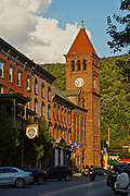 Broadway town center, Jim Thorpe, Carbon County, PA, USA