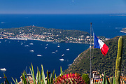 The artistic village Eze looking down on Saint-Jean-Cap-Ferrat.