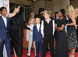 September 12, 2017 - Toronto, Canada - ANGELINA JOLIE WITH HER CHILDREN PAX, VIVIENNE, KNOX, SHILOH AND ZAHARA - RED CARPET OF THE FILM 'FIRST THEY KILLED MY FATHER' - 42ND TORONTO INTERNATIONAL FILM FESTIVAL 2017 (Credit Image: © Visual via ZUMA Press)