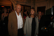 Sir Richard and Lady Rodgers. Dirty Dancing ,premiere: Aldwych Theatre, 49 Aldwych, London, WC2,24 October 2006. -DO NOT ARCHIVE-© Copyright Photograph by Dafydd Jones 66 Stockwell Park Rd. London SW9 0DA Tel 020 7733 0108 www.dafjones.com
