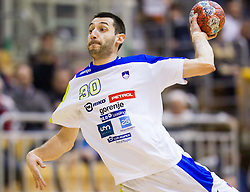 Dragan Gajic of Slovenia during friendly handball match between National Teams of Slovenia and F.Y.R. of Macedonia on December 28, 2013 in Sports hall Polaj, Trbovlje, Slovenia. Photo by Vid Ponikvar / Sportida