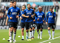 Derby County's Bradley Johnson during the warm-up