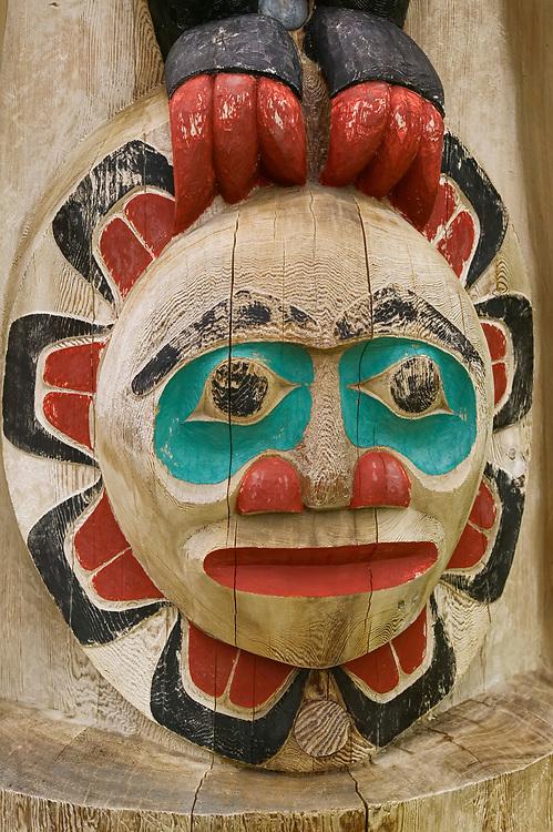 USA, Alaska, Inside Passage, Ketchikan, Totem Poles at Saxman Totem Park