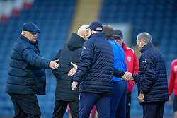Arbroath's manager Dick Campbell and Raith Rovers manager John McGlynn at the end. Raith Rovers 0 v 1 Arbroath. Scottish Football League Division One game played 16/2/2109 at Stark's Park.
