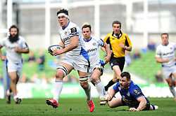 Francois Louw of Bath Rugby gets past Cian Healy of Leinster Rugby - Photo mandatory by-line: Patrick Khachfe/JMP - Mobile: 07966 386802 04/04/2015 - SPORT - RUGBY UNION - Dublin - Aviva Stadium - Leinster Rugby v Bath Rugby - European Rugby Champions Cup