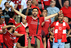 Liverpool fans in the stands prior to the UEFA Champions League Final at the NSK Olimpiyskiy Stadium, Kiev.