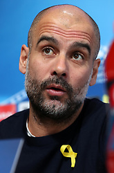 Manchester City manager Pep Guardiola during the press conference at the CFA, Manchester.