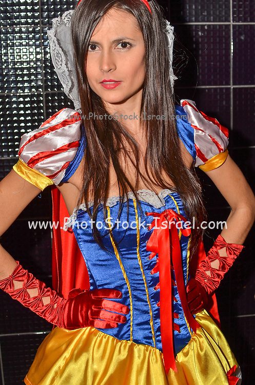 Woman in Snow white costume