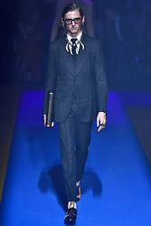 Model Henry Rausch walks on the runway during the Gucci Fashion Show during Milan Fashion Week Spring Summer 2018 held in Milan, Italy on September 20, 2017. (Photo by Jonas Gustavsson/Sipa USA)