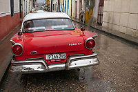 Classic car, Santa Clara, Cuba 2020 from Santiago to Havana, and in between.  Santiago, Baracoa, Guantanamo, Holguin, Las Tunas, Camaguey, Santi Spiritus, Trinidad, Santa Clara, Cienfuegos, Matanzas, Havana